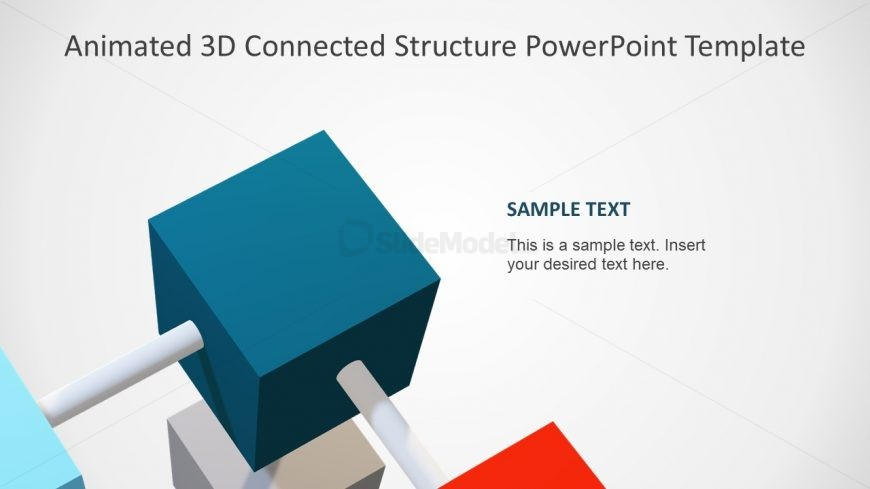 Business PowerPoint Animated Cube
