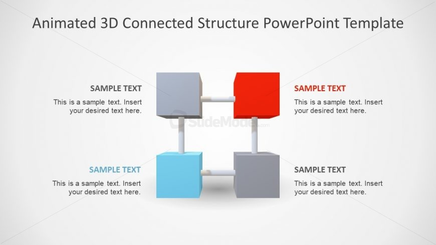 Layout of Animated 3D Cubes