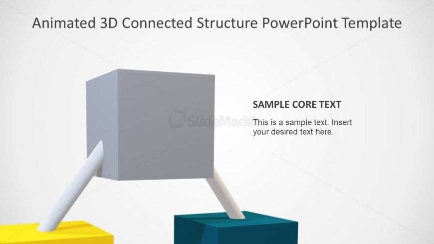 Slide of 3D Structure 3 Cube