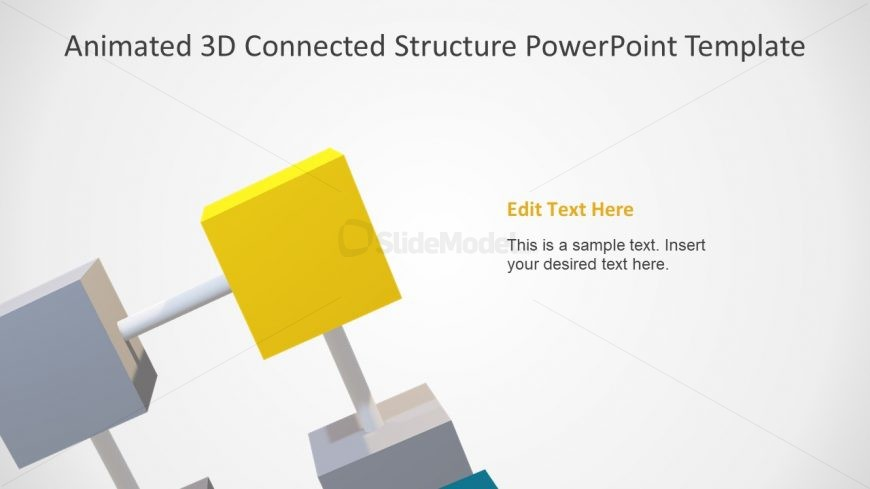 Slide of Yellow Cube in Diagram