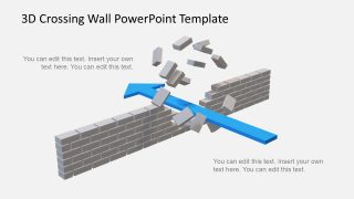 Animated 3D Crossing Wall Concept PowerPoint Template