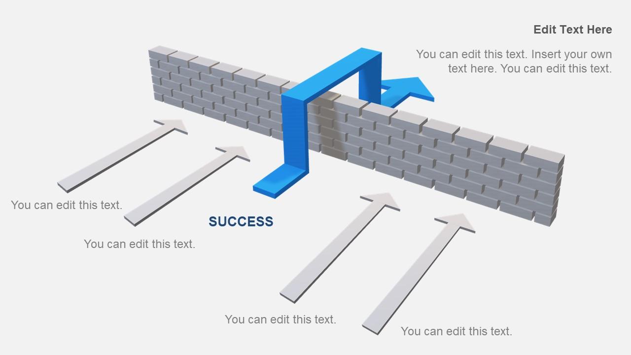 PowerPoint Arrow Design 3D Layout