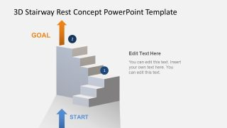 Animated 3D Stairway Rest Concept PowerPoint Template