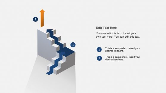 Process Flow PowerPoint Stairway