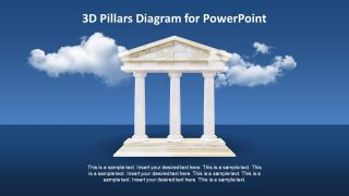 Animated 3D Pillars Diagram for PowerPoint