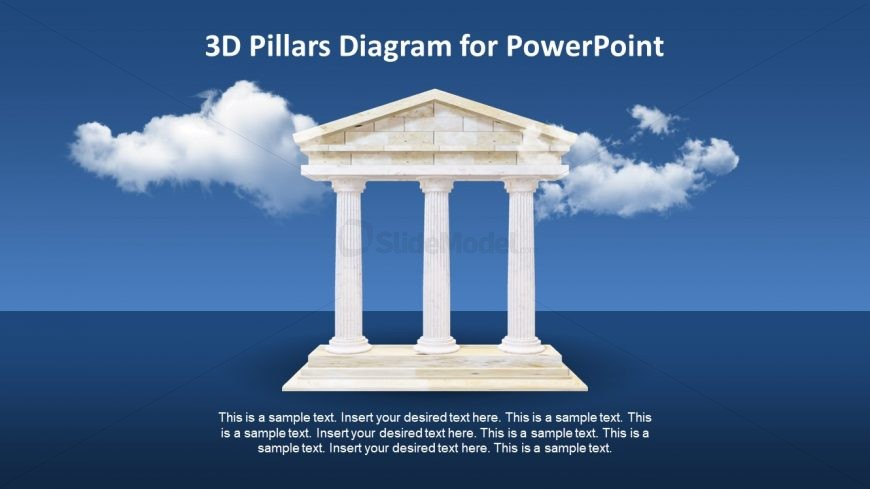 3D Animated PowerPoint Pillars