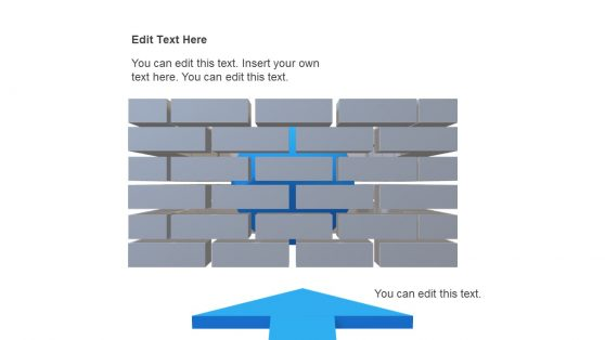 3D Model of Brick Wall Crossing PPT