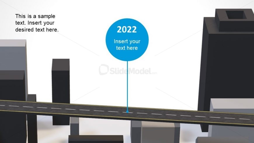 3D PowerPoint Roadmap Model