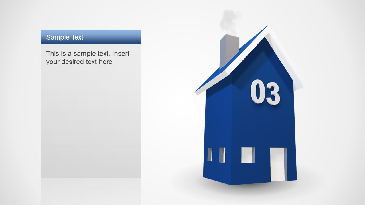 4 Steps 3D House PowerPoint
