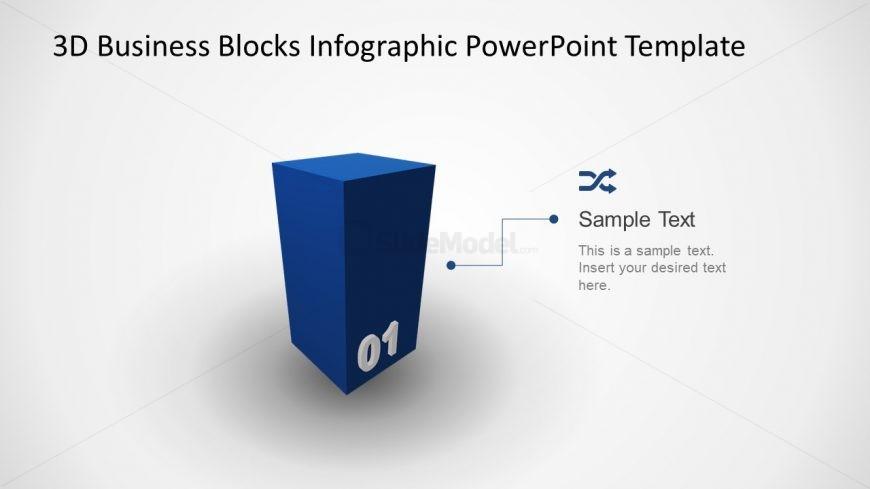 Block Diagram 3D Cube PPT