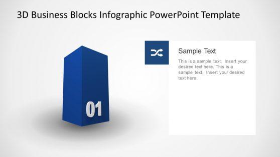 3D Model Diagram PowerPoint Cube