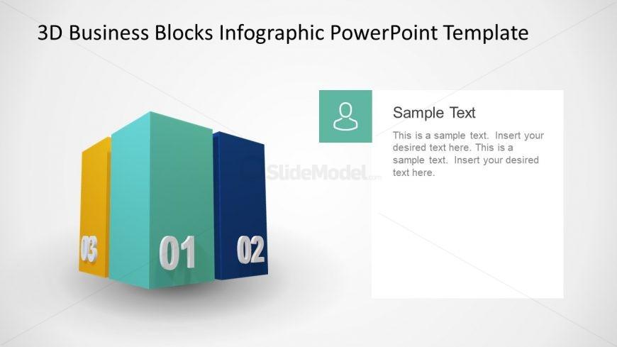 3D Cubes PPT 4 Segments