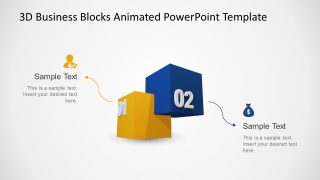 Animated 3D Business Blocks with 2 Steps