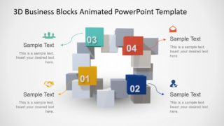 Animated 3D Square Connected Block PowerPoint Templates