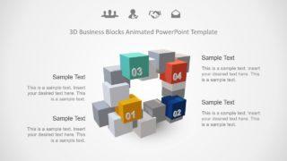 3D Model Cube PowerPoint