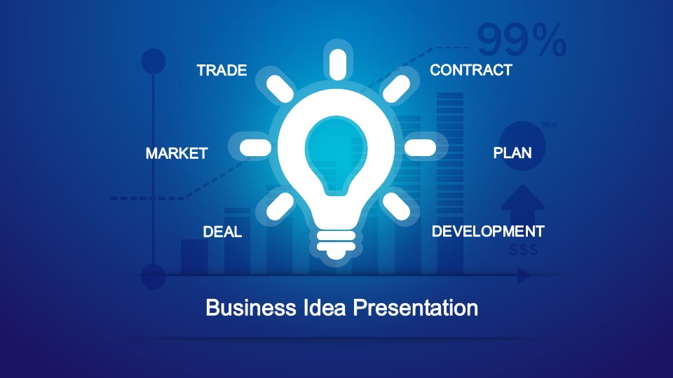 Creative Light Bulb Cover Slide Design for PowerPoint