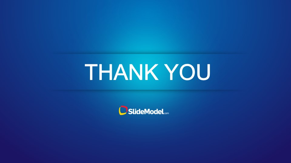 blue thank you slide design for powerpoint