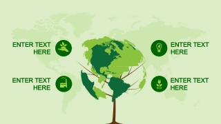 Animated Globe Tree Clipart Design for PowerPoint