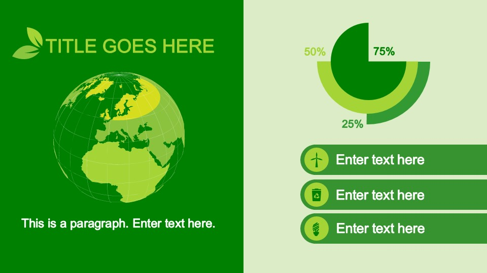 animated eco-friendly powerpoint template