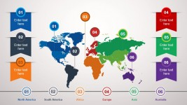Animated World Map PowerPoint Slide