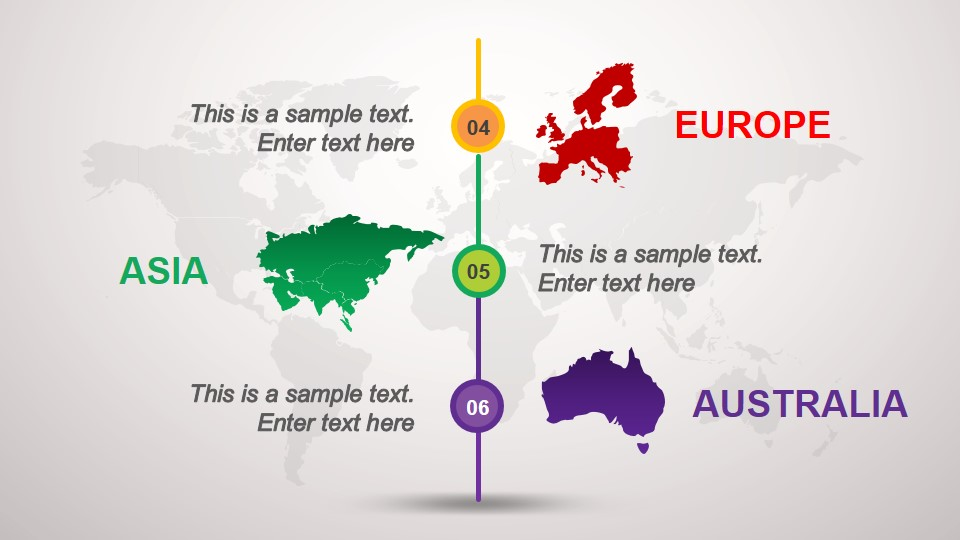 Australia Map In Europe.Animated Continental Powerpoint Template