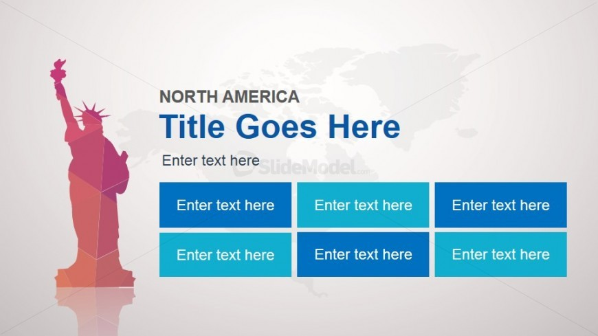 North America Slide Design Template for PowerPoint