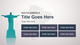 South America Slide Design Template for PowerPoint