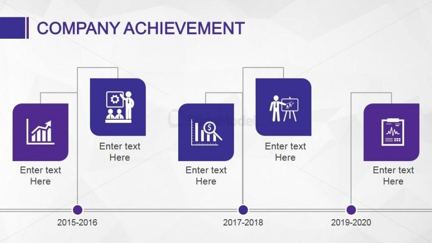 Company Achievement Slide Design Timeline