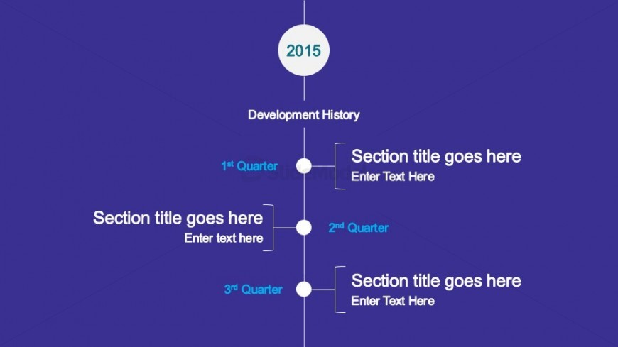 Vertical Timeline Design for PowerPoint