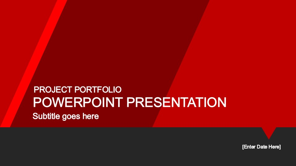 red portfolio powerpoint template - slidemodel, Powerpoint templates