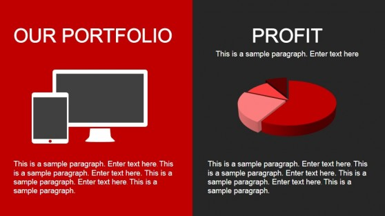 Portfolio & Profit Slide Design for PowerPoint