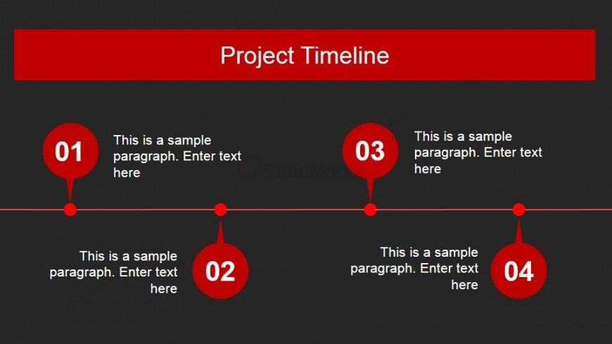Animated Red Timeline Design for PowerPoint