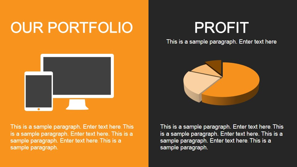 yellow portfolio powerpoint template