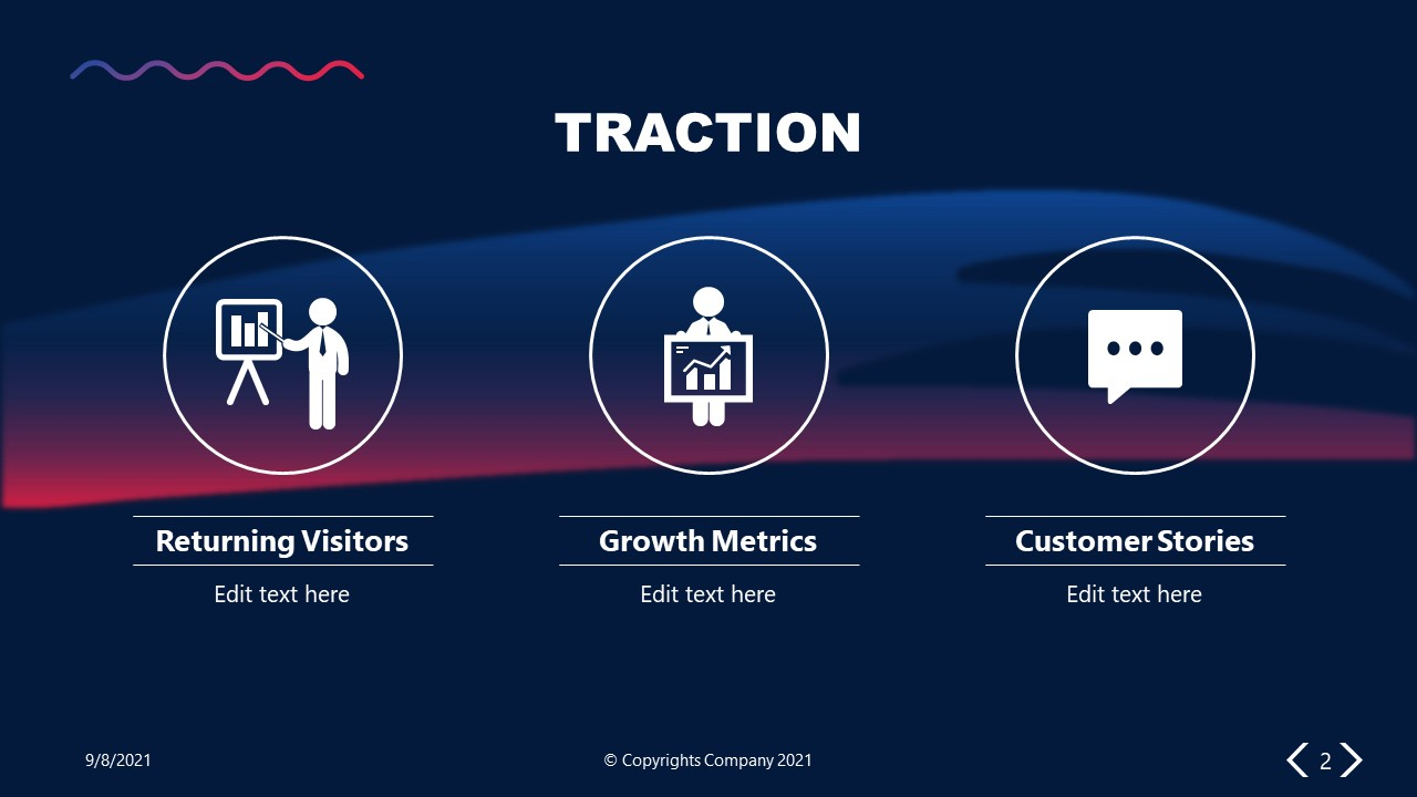 PowerPoint Elevator Pitch Traction Slide