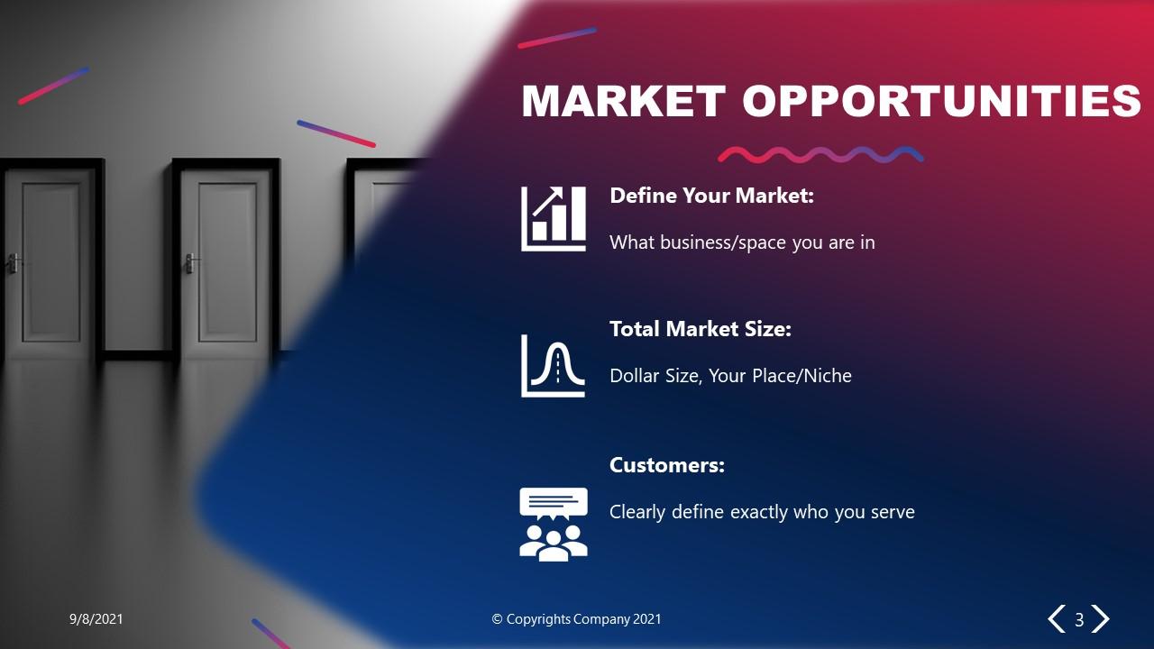 PowerPoint Elevator Pitch Market Opportunity Slide