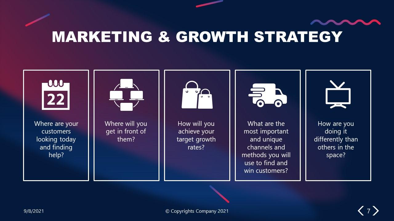 PowerPoint Elevator Pitch Market Strategy Slide