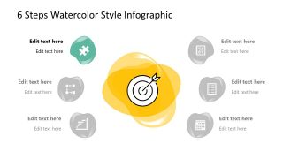 PPT Infographic Diagram Watercolor Theme Item 1