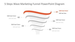Step 1 of Marketing Funnel Template Diagram