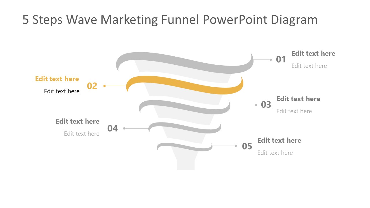 Step 2 of Marketing Funnel Template Diagram