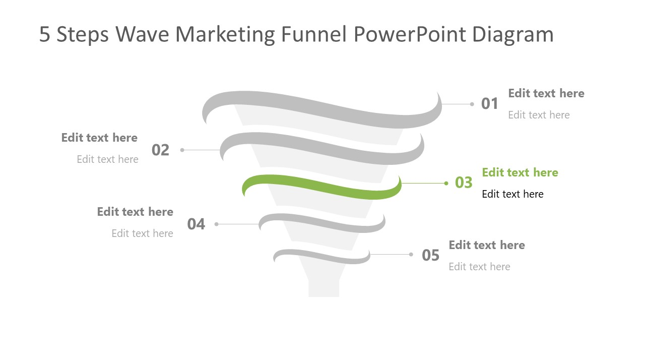 Step 3 of Marketing Funnel Template Diagram