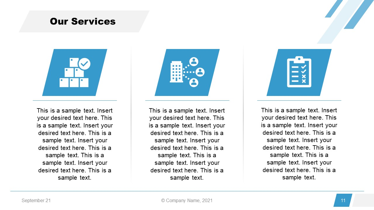 Corporate Annual Report Template of Services
