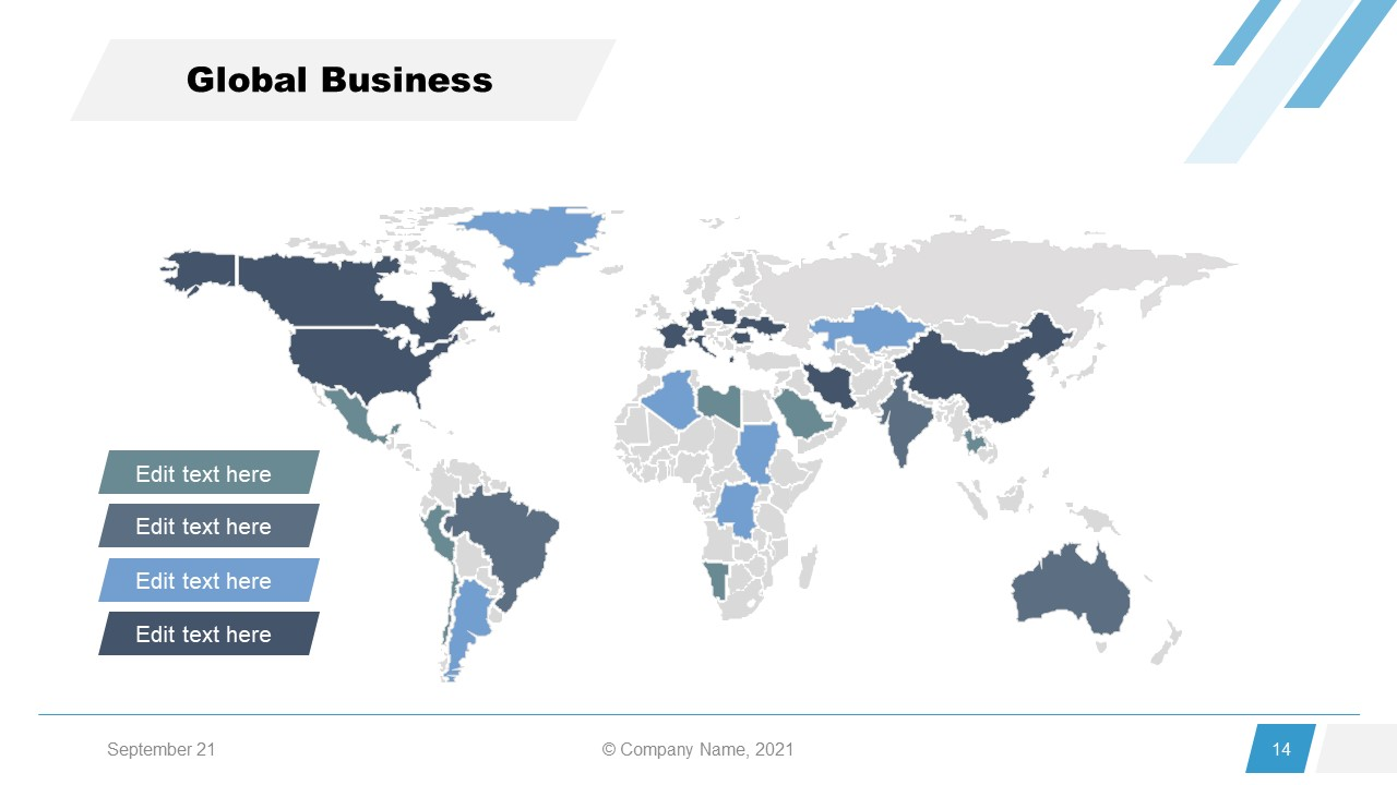 Corporate Annual Report Template of Global Business