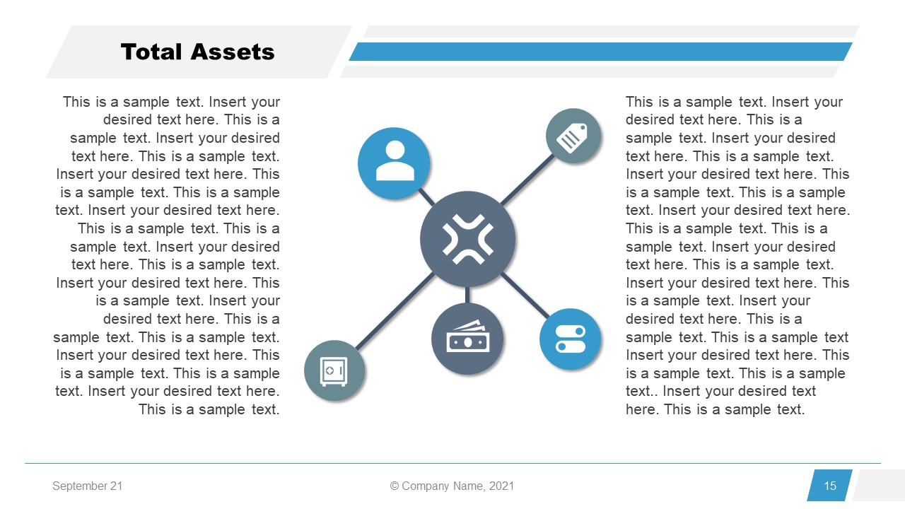 Corporate Annual Report Template of Total Asset