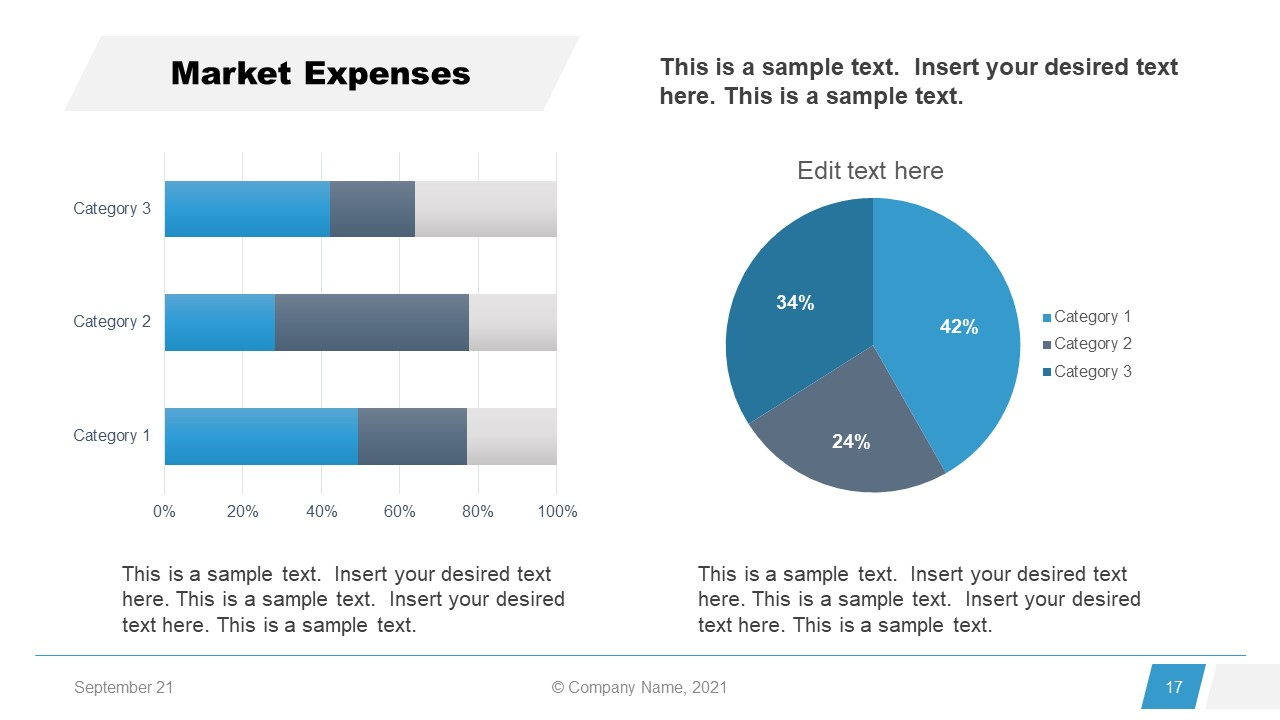 Corporate Annual Report Template of Market Expense