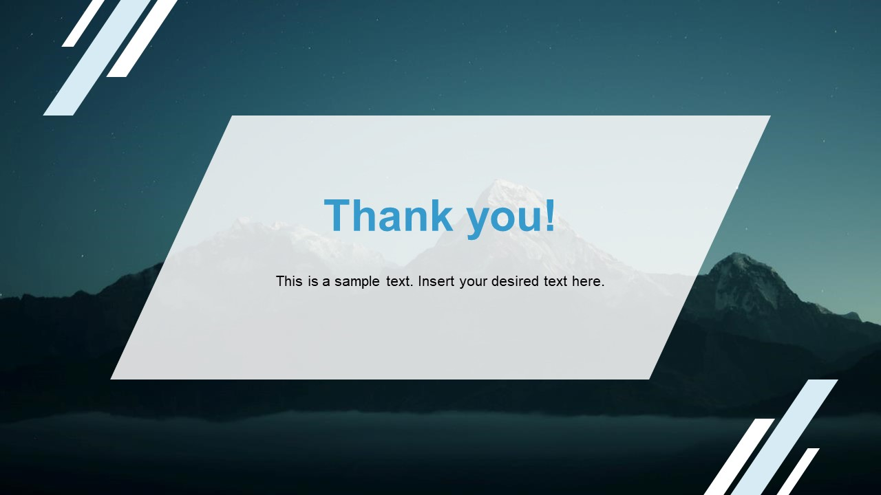 Corporate Annual Report Template of Thank You