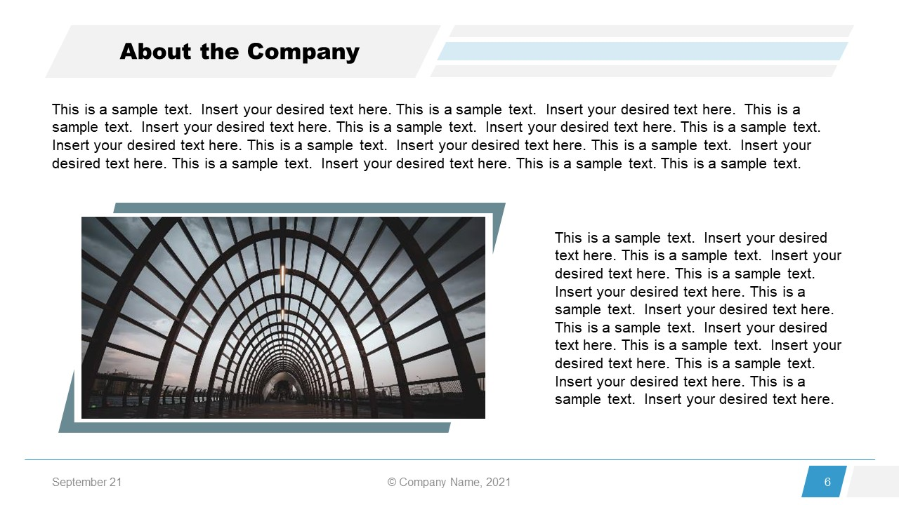 Corporate Annual Report Template of About Company
