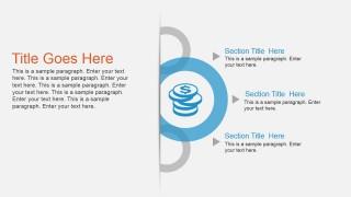 3 Text boxes & Circular Diagram Design for PowerPoint
