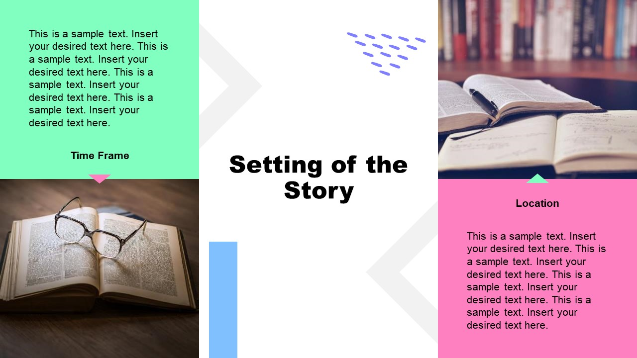 PPT Book Report Template for Setting story