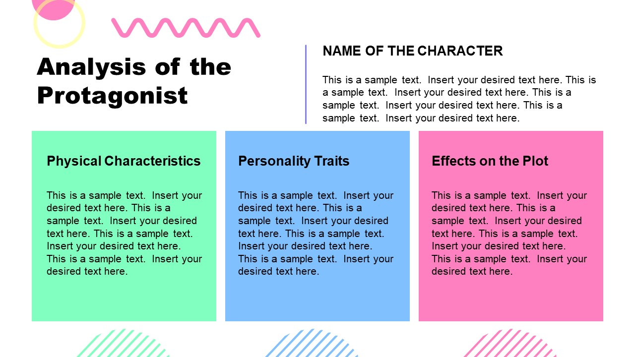 PPT Book Report Template for Analyze Protagonist