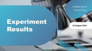 Presentation of Experiment Results Cover Slide